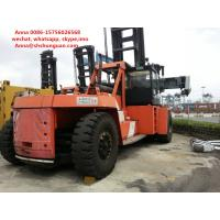 Buy cheap Flexible Used Container Handler , Reach Stacker Forklift Hydraulic Powered Steering Wheel product