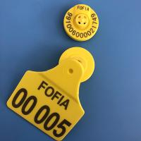 China 134.2Khz Visual Electronic Cattle Ear Tags , With Top-quailty European Chips , Support Printing Both Part on sale