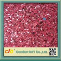 Buy cheap Decoration  PU Printed Vinyl Fabric 137cm Wide Shiny With Glitter product