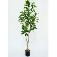 Buy cheap 4 Ft Artificial Indoor Plants , Artificial Trees For Living Room Plastic Grow Pot Base product