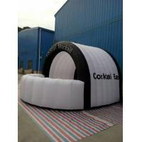 White And Black Pvc Coated Cloth Promotional Inflatable Booth Tent for Advertisement