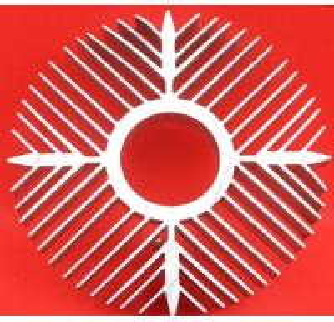 Buy cheap Sunflower High Efficiency Extruded Aluminum Heatsink For Ceiling Light Radiator from wholesalers