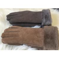Buy cheap Women sheepskin winter gloves 100% Handmade Real wool lining Gloves Mittens product