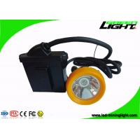 Buy cheap Rechargeable Cordless Cap Lamp Mining Black Miner Helmet Lamp With Low Power Warning product