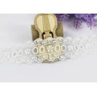 Buy cheap Floral Embroidery Polyester Eyelet Lace Trim For Women Dresses / Home Textile product