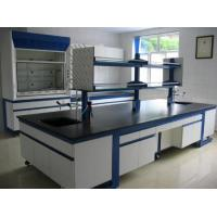 Quality Chemical Laboratory Furniture H Frame Lab Island Work Bench With Reagent Shelf for sale