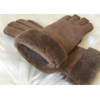 Buy cheap Women's Double face Sheepskin Gloves Shearling Hand Gloves with Fur Cuff product