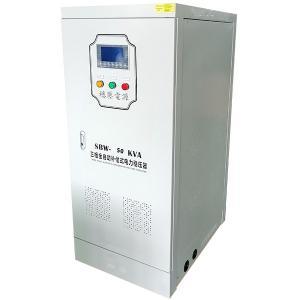 Buy cheap Three Phase SBW-50KVA AC Metallic Servo Motor Type Full Automatic Electrical Voltage Regulator product