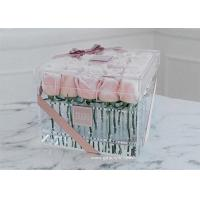 Buy cheap Acrylic Clear Transparent Lucite Flower Box Rose Box For Fresh Roses Display from wholesalers