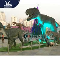 Buy cheap Outdside Theme Park Realistic Dinosaur Statues / Life Like Garden Animals product