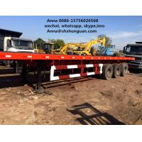Buy cheap 20 Ft Tri Axles Used Truck Trailers Single Drum Roller For Transportation product