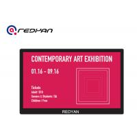Buy cheap Art Show Display LCD Wifi Monitor Black Slim Case Wall Mount Digital Signage product