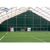 China 30m X60m Huge Curved Sports Shelter Tent  For Tennis Court No Pole Inside on sale