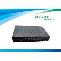 Buy cheap SFP 8 Port Fiber Optic Ethernet Switch 100mbps , Full Duplex Switch Dual Mode product