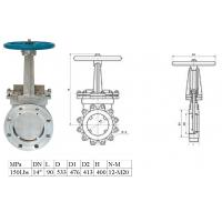 SST , Stainless Steel Knife Gate Valve API 600 DIN JIS  / Wafer Gate Valve