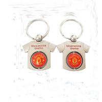 Buy cheap Round Blank Copper Custom Metal Keychains Epoxy Coating Surface Founded product