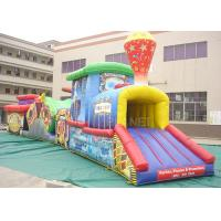 Buy cheap Challenge Race Inflatable Obstacle Course Train Tunnel Climb Slide product
