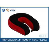 Buy cheap Red And Black Neck Support Memory Foam Pillow U Shaped Travel Pillow For Sleeping product