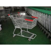 Buy cheap Double Bearing Casters Supermarket Shopping Carts with baby seat product