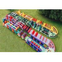 China Fireproof Fun Run Inflatable Sports Games / Inflatable Obstacle Challenge on sale