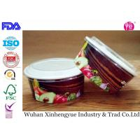 China Biodegradable Disposable Paper Food Containers With Clear Lids , No Smell on sale