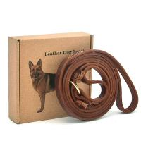 """Buy cheap Adjustable Stitched Handmade Dog Leather Leashes 5' x 0.7"""" x 0.2"""" With Slider product"""