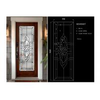 Buy cheap Arctic Patterned Window Door Suit Decorative Frosted Glass Brass / Nickel / Patina product