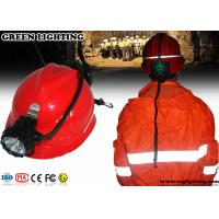 Buy cheap High Power Miners Cap Lamp With Rear Warning Light 15000 Lux Brightness product