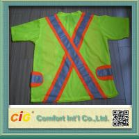 Buy cheap Orange Red Green Pink Traffic Safety Vest Reflective Clohting for Security 100% Polyester product