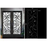 Buy cheap Natural Lighting Elegant Inlaid Door Wrought Iron Glass For Building Hand Forged Dignified from wholesalers