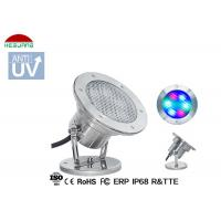 Buy cheap Stainless Steel LED Underwater Pool Lights RGB 4 Wires WIFI Control With Mobile Phone product