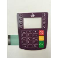 Buy cheap Flat keys embossing buttons metal dome LCD display window Membrane Switches product