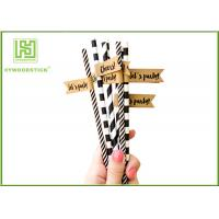 Buy cheap Disposable Colored Paper Straws , Paper Drinking Straws Bulk For Baby Shower 197 * 6mm product