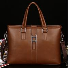 Buy cheap Men's business bags Genuine Leather Portfolio Bag Shoulder bag from wholesalers