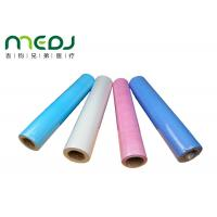 Buy cheap Paper And PE Medical Disposable Bed Sheets 49cmX50m Fabric Roll product