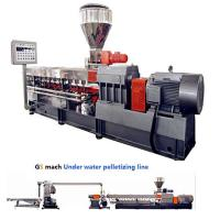 Buy cheap 300 - 400 Kg / H Double Screw Extruder Machine With Under Water Pelletizing System product