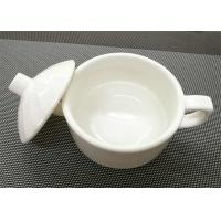 Buy cheap 4'' White Stackable Porcelain Soup Bowl Porcelain Dinnerware Sets Weight 259g from wholesalers