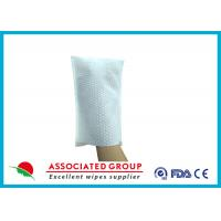 Buy cheap Big Pearl Dot Spunlace Scrub Gloves Boby Washing Material Square Shape product