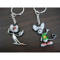 China Nice Looking Custom PVC Keychains For Business , OEM Custom Shaped Keychains on sale