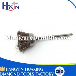China Gold Shank Brass Polishing Brush , Nail Drill Bit Brush Length 47mm Eco Friendly on sale