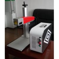 Buy cheap 20W Mini fiber laser marking machine for plastic PVC data matrix and barcode from wholesalers