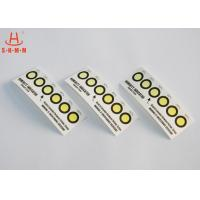 China Cobalt Free 6 Dots Colour Change PCB Moisture Indicator Paper Card RoHS on sale