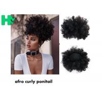 Buy cheap Black Synthetic Hair Pieces , Afro Curly Human Hair Ponytail Extensions product
