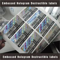 Buy cheap Tamper Evident Destructible Vinyl Laser Labels High Security With Custom Pattern product