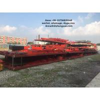 Buy cheap Large Scale Used Truck Trailers , Container Transport Skeleton Flatbed Semi Trailer product