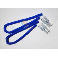 Buy cheap Plastic Stretchy Dental Scarfpin Coiled Cord Blue Color 30CM Long Custom Logo Printing product