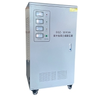 Buy cheap 30KVA Three Phase Bus Bar Full Automatic Laser Power Pointer Meters Customized Voltage Regulator product