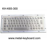 Buy cheap Ruggedized Industrial Metal Keyboard For Info Kiosk , Compact Entry SS Keyboard product