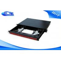 Buy cheap Light Weight Fiber Distribution Panel , 48 Port Fiber Patch Panel Rack Mount For ODF Tray product