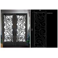 Buy cheap Top Notch Security Easy Cleaning Inlaid Door Wrought Iron Glass from wholesalers